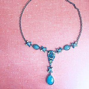 Jewelry - Aqua & green beach moonstone summer necklace